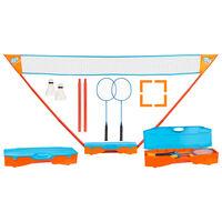 Get & Go Ensemble de jeu de badminton instantané Bleu et orange