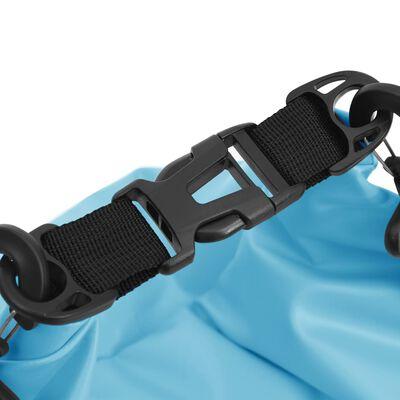vidaXL Sac sec Bleu 20 L PVC