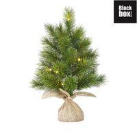 Black Box Trees - Glendon sapin d.noel LED a. toile de jute vert -