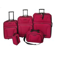 vidaXL Set de valises rouges 5 pièces