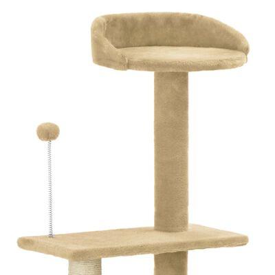 vidaXL Arbre à chat avec griffoir en sisal Beige 125 cm