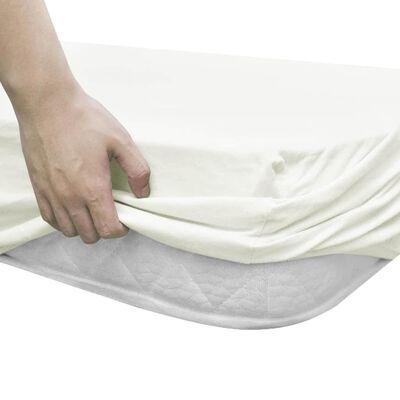 vidaXL Drap-housse de berceaux 4pcs Jersey coton 40x80cm Blanc cassé