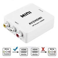 Adaptateur convertisseur Cinch vers HDMI - Blanc
