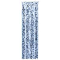 vidaXL Moustiquaire Bleu et blanc 120x220 cm Chenille