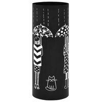 vidaXL Porte-parapluie Femmes Acier Noir