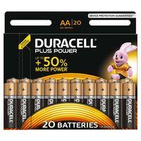 Duracell Piles alcalines AA Plus Power 20 pcs