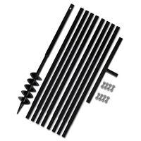 vidaXL Tarière de sol avec manche 100 mm et tube d'extension 9 m Acier