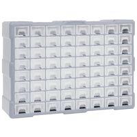 vidaXL Organisateur multi-tiroirs avec 64 tiroirs 52x16x37,5 cm