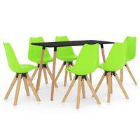 vidaXL Ensemble de salle à manger 7 pcs Vert