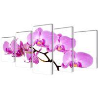 Set de toiles murales imprimées Orchidée 200 x 100 cm