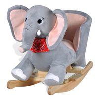 vidaXL Éléphant à bascule pour bébés