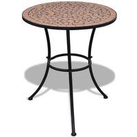 vidaXL Table de bistro Terre cuite 60 cm Mosaïque