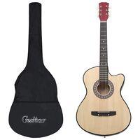 """vidaXL Jeu de guitare 12 pcs acoustique pan coupé western 6 cordes 38"""""""