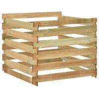 vidaXL Composteur de jardin à lattes 100x100x80cm Bois de pin imprégné