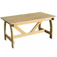vidaXL Table de jardin 150x74x75 cm Bois de pin imprégné