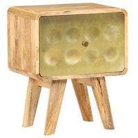 vidaXL Table de chevet Bois de manguier massif 40x30x49 cm