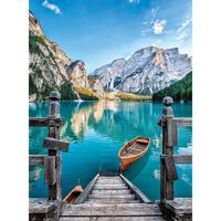 Puzzle 500 pièces : Lac de Braies, Italie