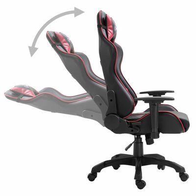 vidaXL Chaise de jeu Rouge bordeaux Similicuir