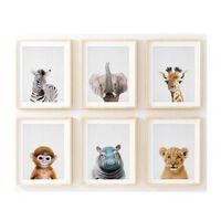 Parya Official - Posters D'animaux - 6 Pièces - 20 X 30 Cm