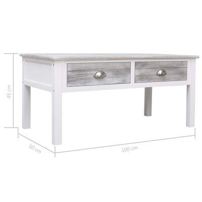 vidaXL Table basse Gris 100 x 50 x 45 cm Bois