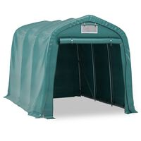 vidaXL Tente de garage PVC 2,4x3,6 m Vert