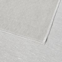Nappe Blanc/lin Naturel Carrée Coton Et Lin 145x145 - Piana