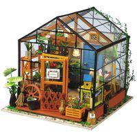 Robotime Kit miniature de bricolage Cathy's Flower House avec LED