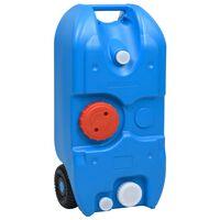 vidaXL Réservoir d'eau sur roues pour camping 40 L Bleu