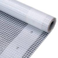 vidaXL Bâche Leno 260 g/m² 2 x 10 m Blanc