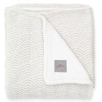 Jollein Couverture River Knit 75x100 cm Polaire Blanc crème