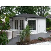 Alpholz Maison de jardin à 5 coins modèle joséphine-40 avec raffinemen