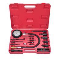vidaXL Kit de testeur de compression de moteur diesel 17 pcs