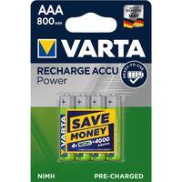Varta 56703 Ready2Use 4xAAA Batteries rechargeables