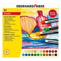 Eberhard Faber EF-522 024 Oil Pastelkrijt 11mm Box A 24 St Assorti