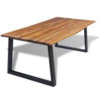 vidaXL Table de salle à manger 200 x 90 cm Bois d'acacia massif