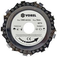 VOREL Disque à chaîne 115x22,2 mm