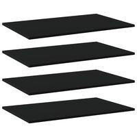 vidaXL Panneaux de bibliothèque 4 pcs Noir 80x50x1,5 cm Aggloméré