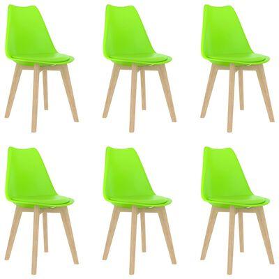 vidaXL Chaises de salle à manger 6 pcs Vert Plastique