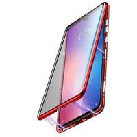 Coque magnétique pour téléphone portable en verre trempé des deux côté