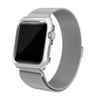 Bracelet Apple Watch 1/2/3 avec cadre d'affichage Boucle milanaise 38
