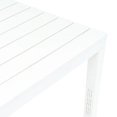 vidaXL Table de jardin avec 2 bancs Plastique Blanc