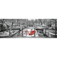 Puzzle 1000 pièces panoramique : Bicyclette à Amsterdam