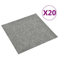 vidaXL Dalles de tapis de sol 20 pcs 5 m² Gris clair