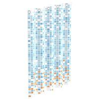 EISL Rideau de douche avec mosaïque bleu-orange 200x180x0,2 cm