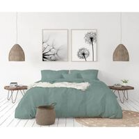 Lovely Home Parure De Couette En 100% Lin 240x260cm + 2 Taies 65x65cm