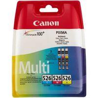 CANON Pack 3 Cartouches CLI-526 C/M/Y - 3 couleurs - pour impression p
