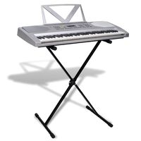Clavier électrique avec support musical + support ajustable de clavier