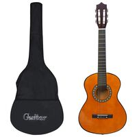 "vidaXL Jeu de guitare classique d'enfants et débutants 8 pcs 1/2 34"""