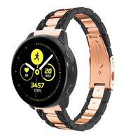 Bracelet Samsung Galaxy Watch 42 mm noir-or rose - 20 mm