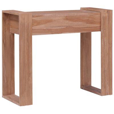 vidaXL Table console 90x35x75 cm Bois de teck solide